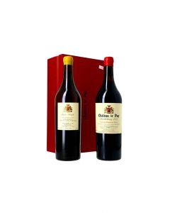 Château Le Puy Coffret avec 1 bouteille de Barthelemy et 1 bouteille de Marie Cécile 1,5