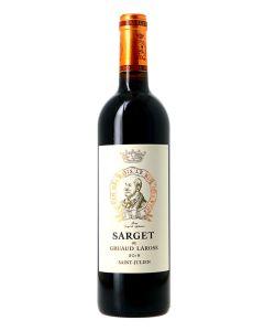 Sarget de Gruaud-Larose, 2nd vin du Château Gruaud-Larose, 2018