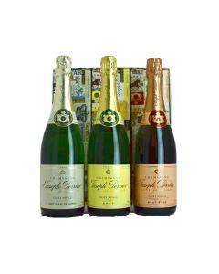 Joseph Perrier, Coffret Trio Rosé, Brut, Blanc de Blancs