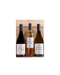 Conde de los Andes estuche 3 botellas (tinto, blanco y dulce)